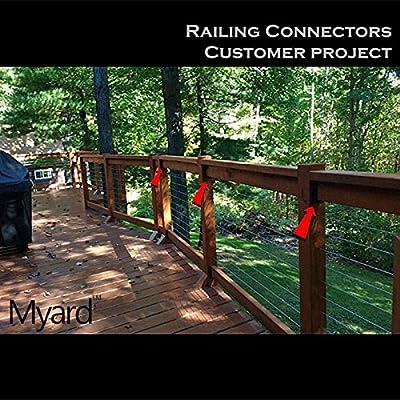 "UPGRADED Railing Connectors 2/pk connect a 2""x4"" (1-1/2"" x 3-1/2""), PNP111902"