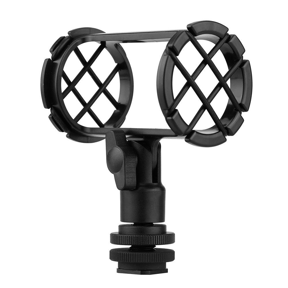 BOYA BY-C04 Camera Video Microphone Shock Mount for RODE NT4 BOYA BY-PM1000 Shotgun Microphones 0.74' - 0.86' (19mm-22mm) in Diameter BOYA-1