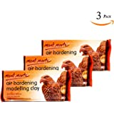 Mont Marte Modelling Clay Air Hardening White 3Pack, Ideal Choice for Professional Artists or Students