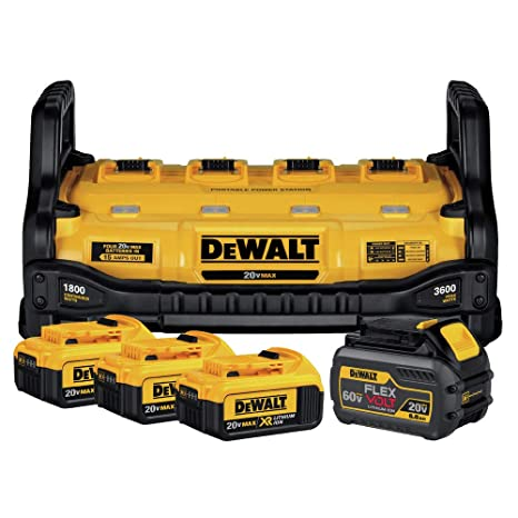 Amazon.com: DEWALT DCB1800M3T1R FLEXVOLT Estación de ...
