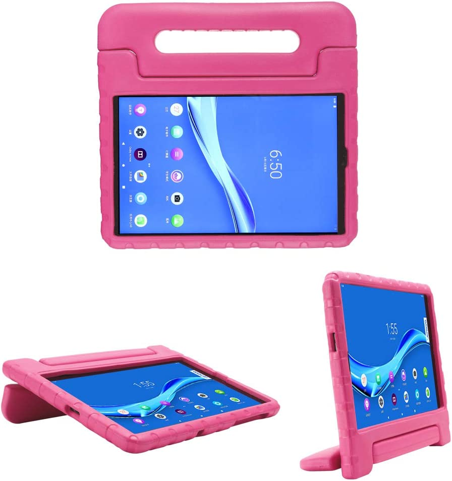 i-original Compatible with Lenovo Tab M10 FHD Plus (TB-X606F) 10.3 Inch Case,Shockproof EVA Case for Kids Bumper Cover Handle Stand,Convertible Handle Lightweight Protective Cover (Magenta)