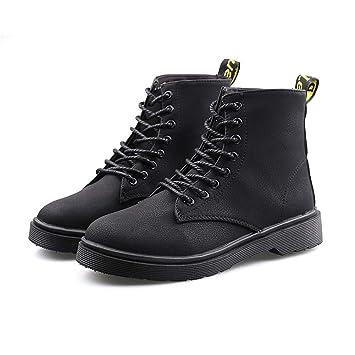 YMFIE Botines Retro con Cordones, Zapatos de Mujer ...
