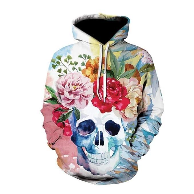 Ghh 3D Imprimir Sudaderas Divertidas 12 Color Más Tamaño Humano Esqueleto Diseño Gráfico Suéter Impreso para Hombres Mujeres Chico Niña Tamaño S-6XL: ...