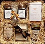 Gourmet Tea Box: White Lion English Tea, White Lion Cranberry Hibiscus Tea, Brown Sugar Cubes, Orange Cardamom Cookies, Orange Blossom Honey, Mint Tea, Rose White Tea, Chamomile, Earl Grey Gift Basket