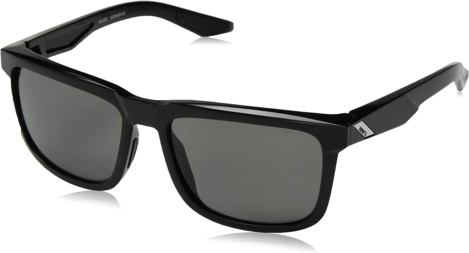 Image of 100% Speedlab (61029-001-47) Blake - Polished Black - Grey PEAKPOLAR Lens, Free Size