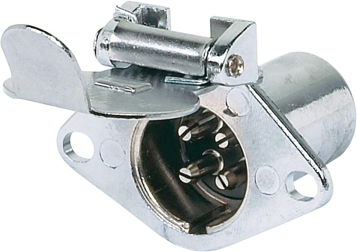 Hopkins 48435 6 Pole Round Vehicle Connector Hopkins Towing Solution