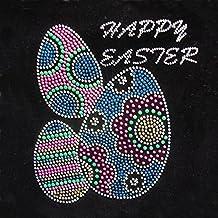 Bunny Rhinestone Iron On Heat Press Crystal MOTIF Rabbit Easter