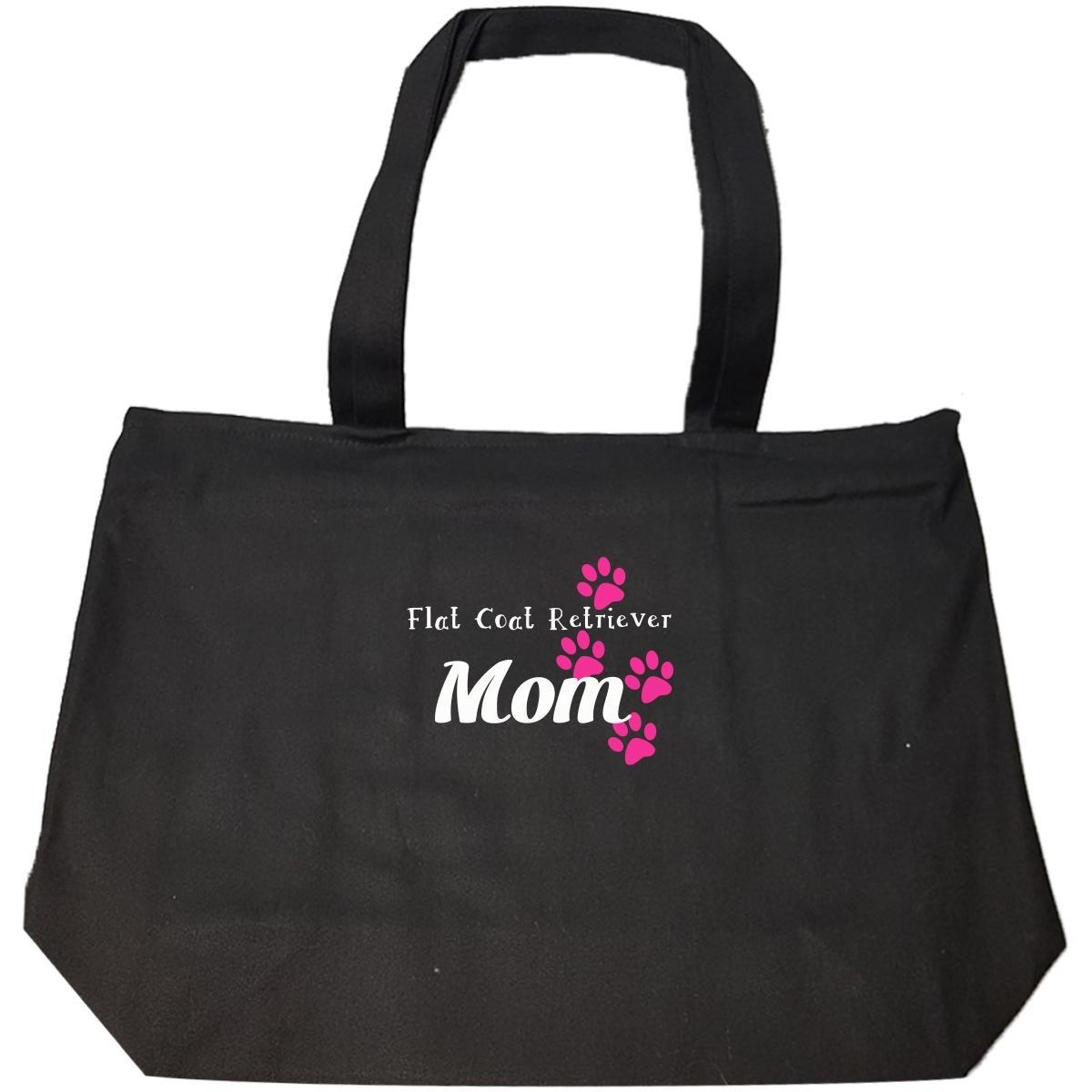 Flat Coat Retriever Mom I Love My Flat Coat Retriever Dog - Tote Bag With Zip
