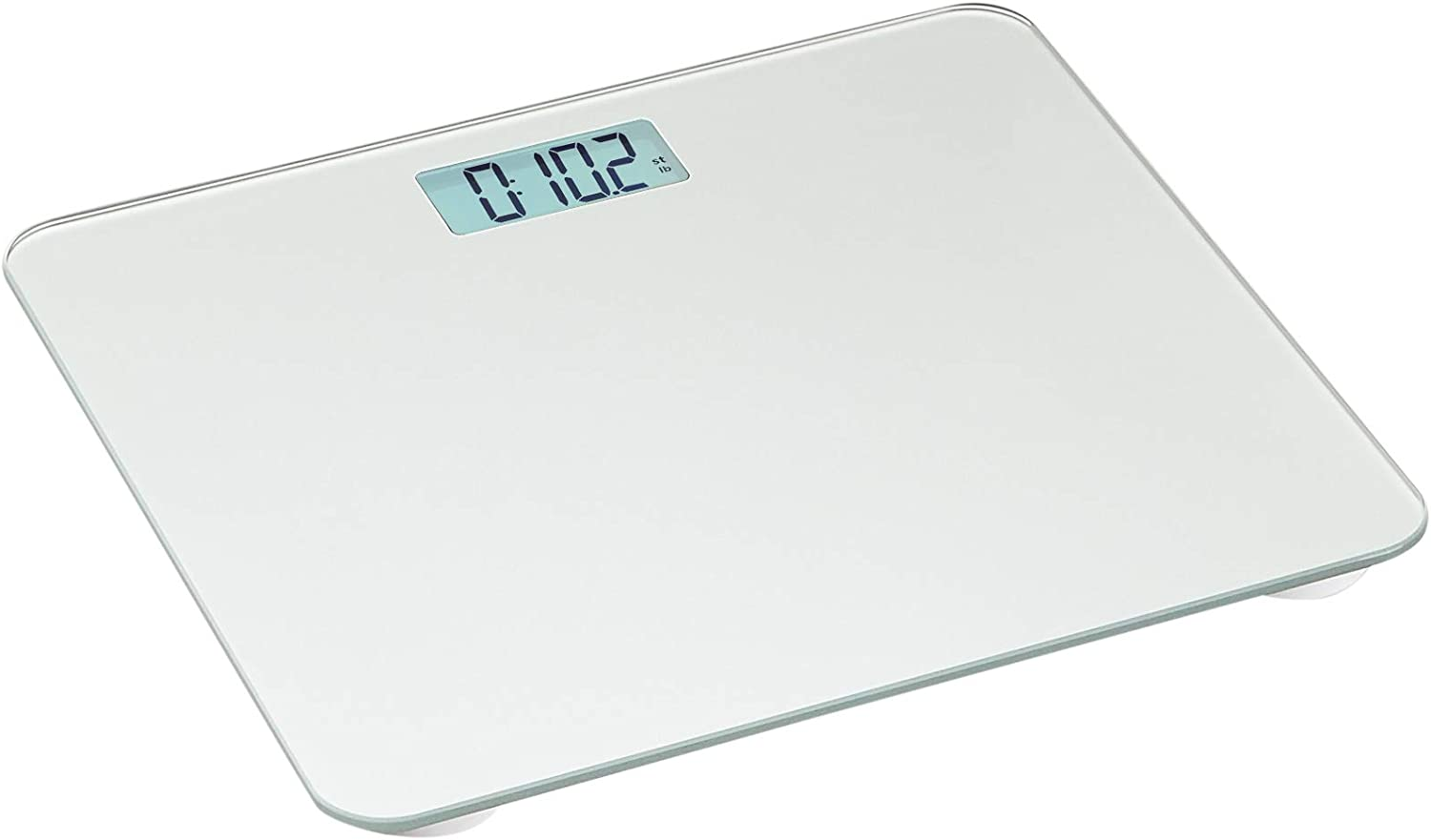 AmazonBasics Body Weight Scale - Auto On/Off Function, Silver