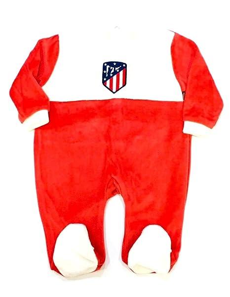 Pelele ATLÉTICO DE MADRID Manga Larga Terciopelo Bebé: Amazon.es: Ropa y accesorios