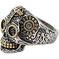 Vintage Gothic Stainless Steel Cross Skull Biker Ring