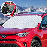 Car Windshield Snow Cover Sunshade Cover Weatherproof Auto Sun Shade Protector with Magnets - Waterproof Windproof Dustproof Windshield Cover for Ice and Snow - Front-End Covers for Most Cars/Trucks/Vehicles/Van/SUV
