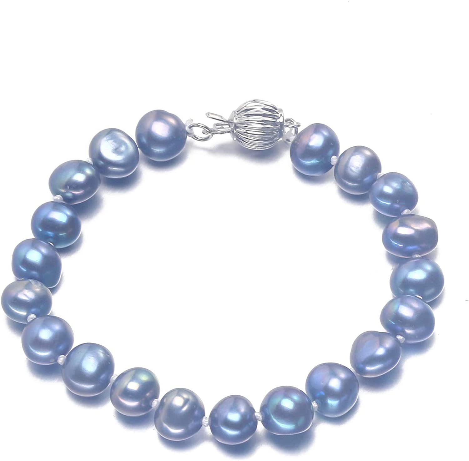 """Boxed /""""Love/""""AAA Quality Baroque Freshwater Cultured Pearl Bracelet"""