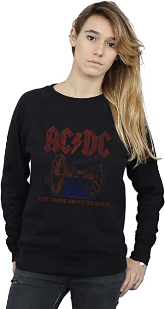 AC/DC Mujer For Those About To Rock Canon Camisa De ...