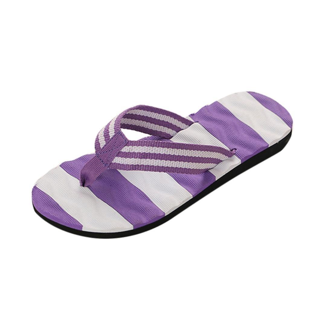 OHQ Pantofole da Donna Pantofola Sandali Donna Estate Flip-Flop da Spiaggia per Esterni Massaggio Splicing alle Infradito in Basso Sandali da Spiaggia  Viola