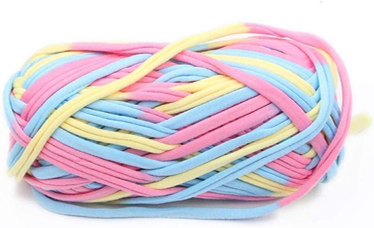100g Hilo de camiseta de algodón suave para ganchillo Ganchillo Manta de tejer Alfombra Bolso Hilo de tela para tejer a mano Grueso Hilado grueso-Y: Amazon.es: Hogar