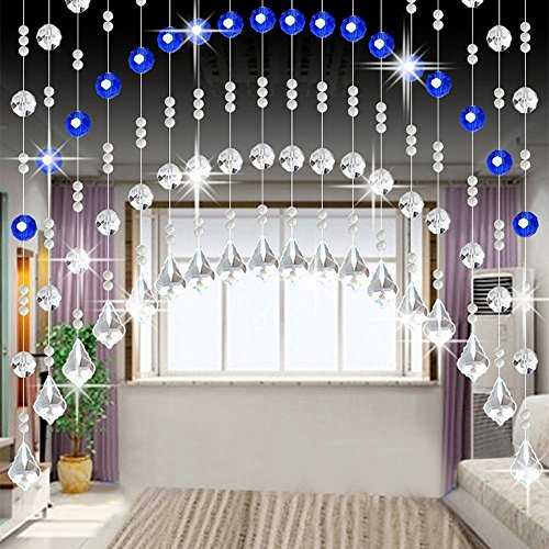 Celiy  Crystal Glass Bead Curtain Luxury Living Room Bedroom Window Door Wedding Decor