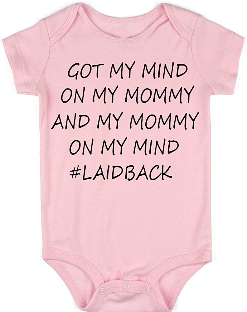 VRW Got my mind on my mommy and my mommy on my mind unisex Onesie Romper Bodysuit