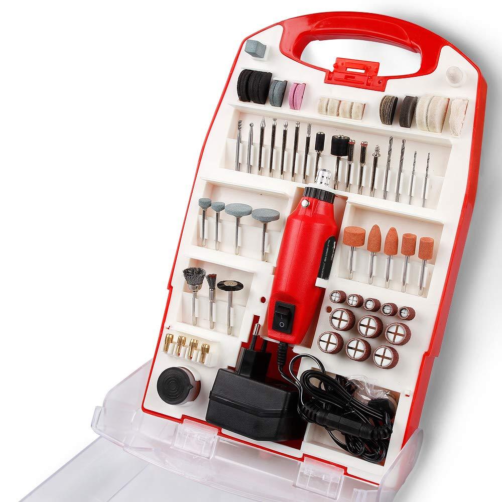 TIMBERTECH Mini-Schleifer-Set, 120-tlg. 135 W inklusive Koffer | Schleifermachine Multifunktionswerkzeug