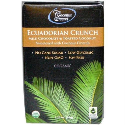 Chocolate Toasted Milk - Coconut Secret Organic Ecuadorian Crunch Milk Chocolate & Toasted Coconut -- 2.25 oz by Coconut Secret