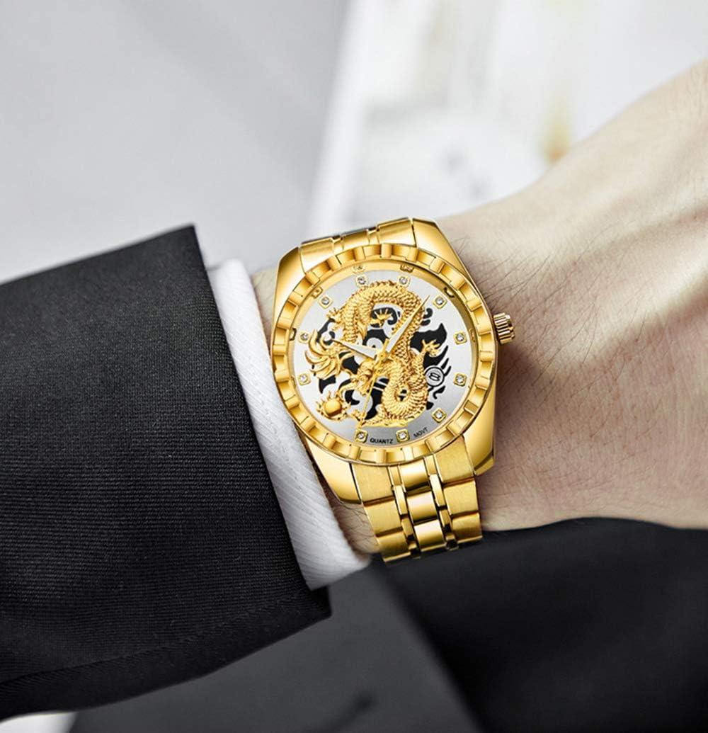 ZDY Hommes Montre Sport Hommes Montres Top Marque de Gold Dragon Big Homme Homme Quartz Montre-Bracelet Local Tycoon Montres Homme C