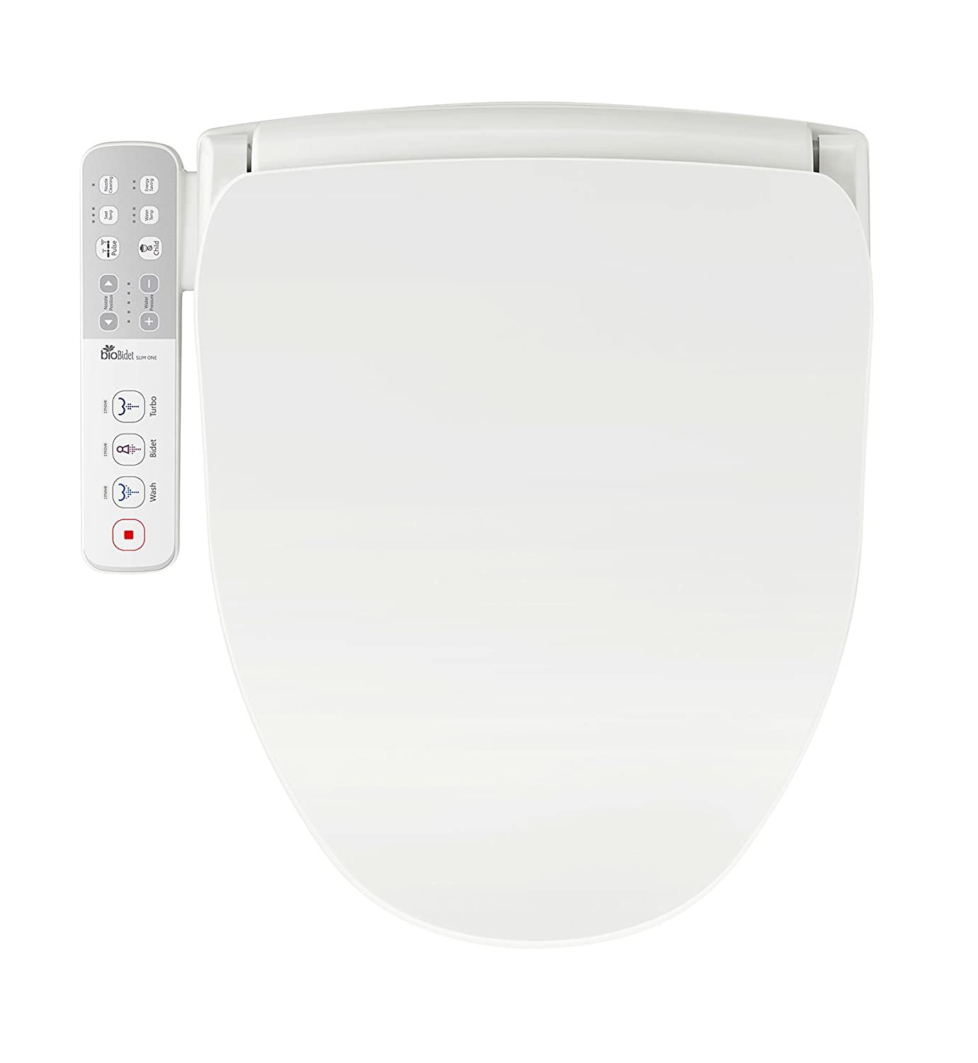 Bio Bidet Slim Smart Toilet Seat in Elongated White with Stainless Steel Self-Cleaning Nozzle, Nightlight, Turbo Wash, Oscillating, and Fusion Warm Water Technology (Slim 1)