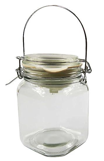 AKTIONA Solarlampe Einmachglas mit Metallhenkel Klar Einweckglas ...
