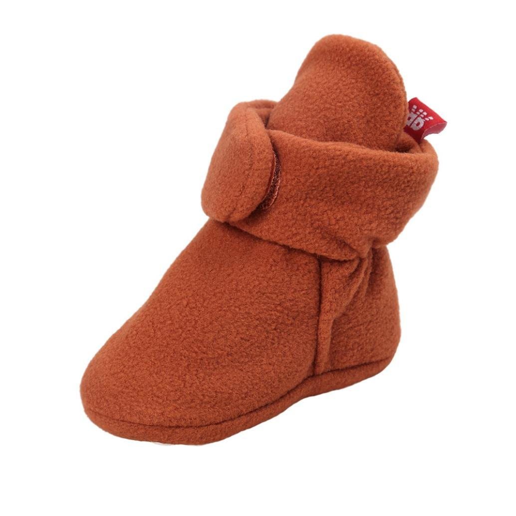 Witspace Infant Baby Boys Girls Snow Boots Toddlers Soft Sole Booties Newborn Kids Crib Shoes