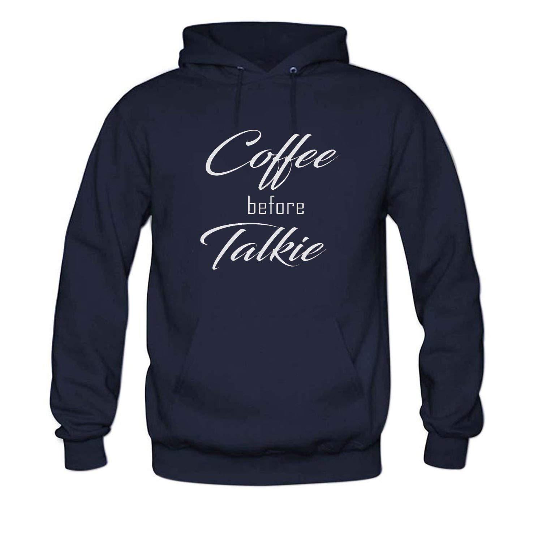 Navy Bbhappiness Mens Coffee Before Talkie Hoodies