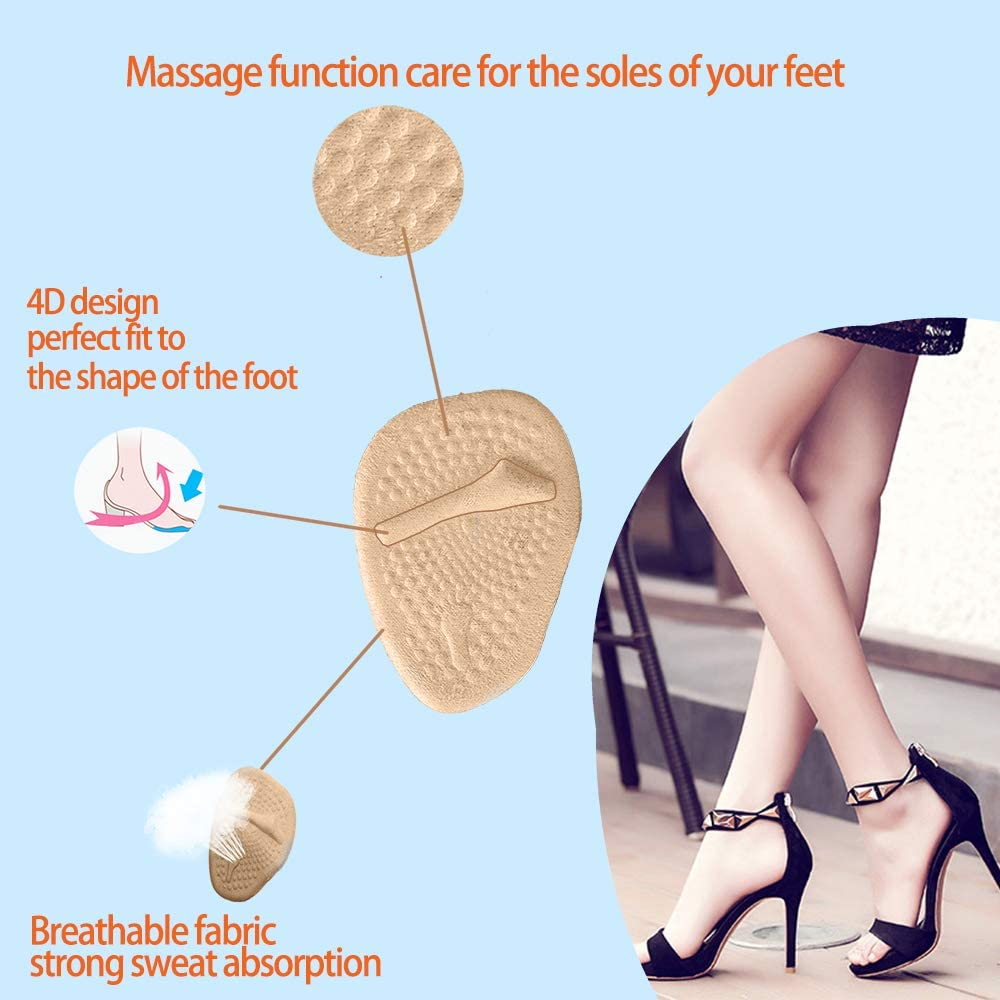 6 Pairs Heel Cushion Pads Heel Shoe Grips Liner Self-Adhesive Shoe Insoles Foot Care Protector Multicolor