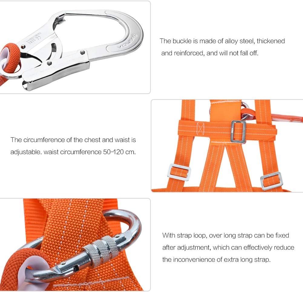 Kits de arnés de seguridad, arnés de seguridad para la detención de caídas, 6 stypes Arnés de escalada ajustable para exteriores Cinturón de seguridad ...