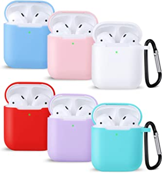 Amazon Com Airpods Case Airpods Case Cover With Keychain
