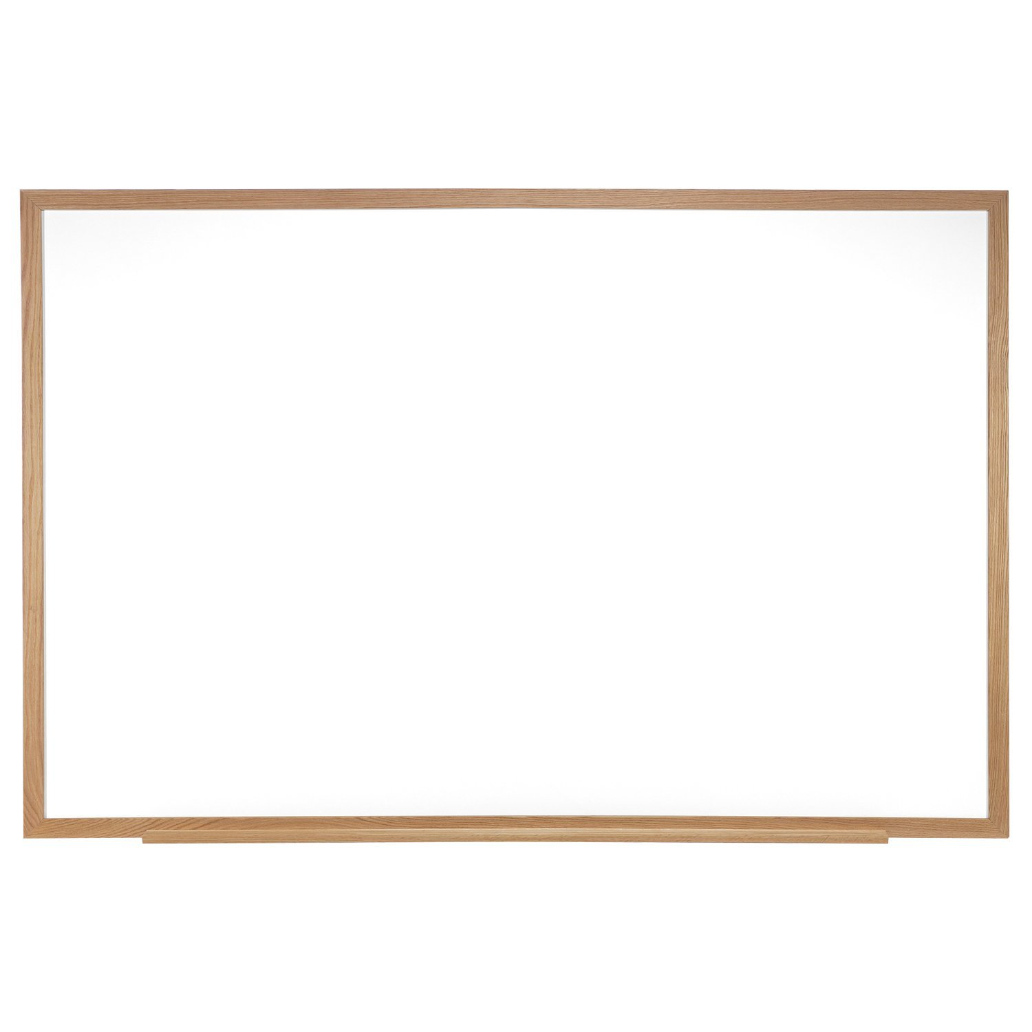Ghent 4 x 12 Porcelain Magnetic Whiteboard, Wood Frame, 1 Marker, 1 Eraser, Made in the USA (M1W-412-4)