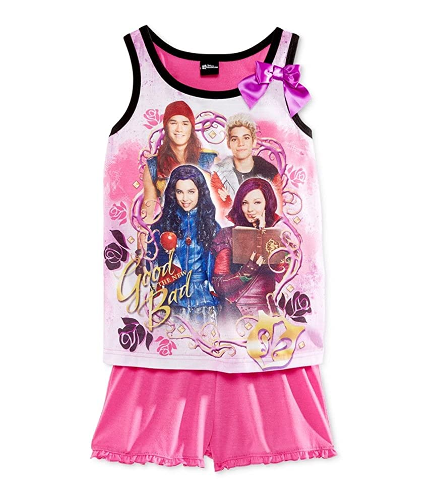 Disney Girls 2-Piece Tank and Short Pajama Sleep Tank Top
