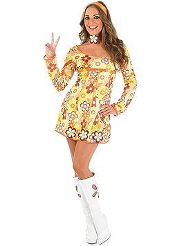Ladies - Disfraz de hippie para mujer, talla M (2774-300M): Amazon ...
