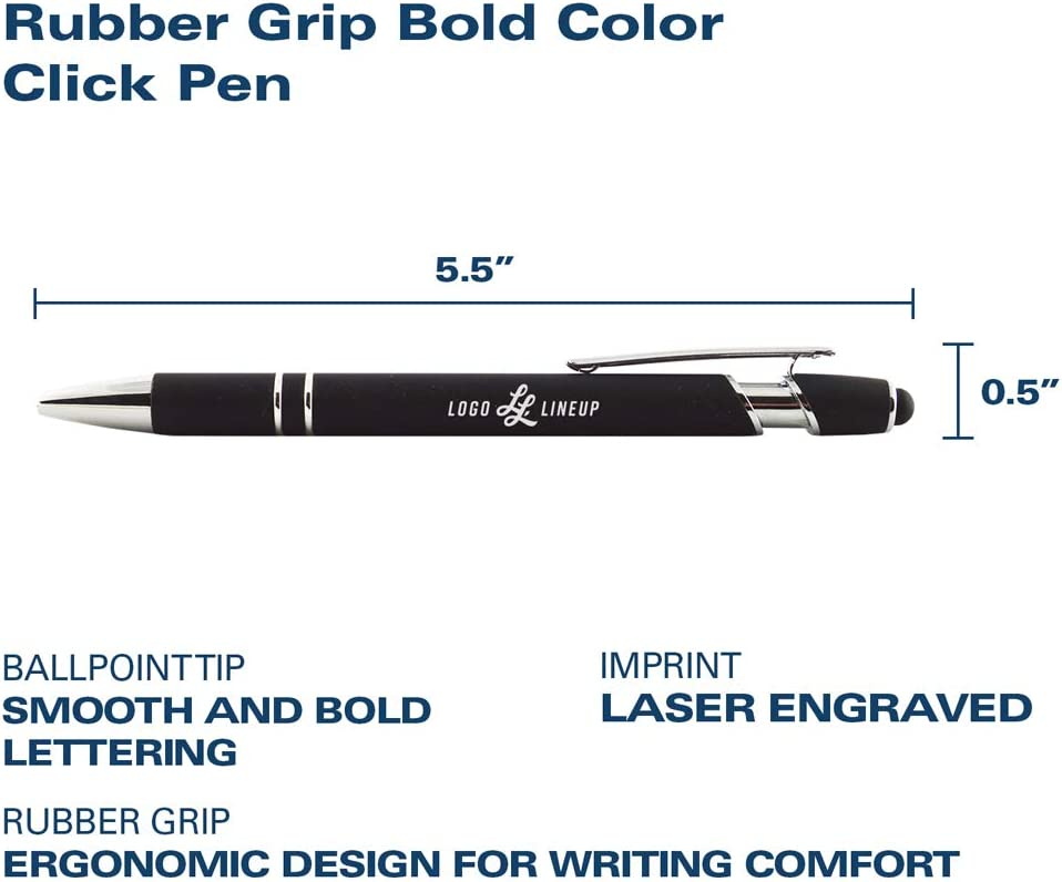 Click Action Ballpoint Pen with Rubber Grip Inc LXG UCF Knights