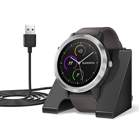 EEweca Charger Stand Compatible with Garmin Fenix 3,5,6/ Forerunner 35,45,235,245,935,945/ Vivoactive 3 Replacement Charging Dock Station with 3.3 ft ...