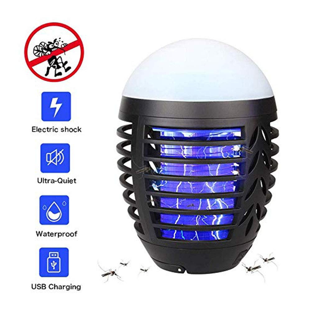 Innocent Water Led Waterproof Mosquito Killer Light Anti Moustique Trap Light Bulb Fly Insec 5V Rechargeable Night Camping Light