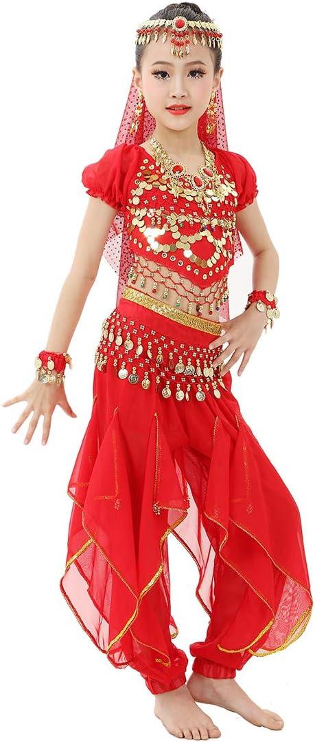 Magogo - Disfraz de danza del vientre para niñas y niñas