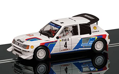 Scalextric C3590A - Juego de 2 Modelos de Coches Peugeot 205 T16 E2 y MG Metro 6R4: Amazon.es: Juguetes y juegos