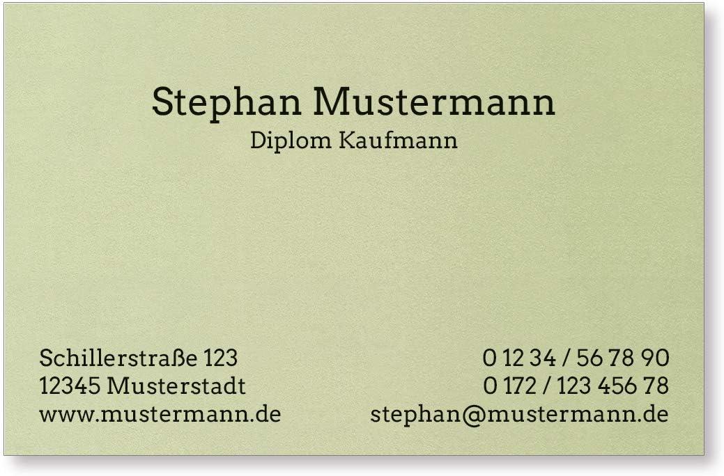 lindgr/ün Feinpapier mit metallisierter Oberfl/äche 50 Visitenkarten