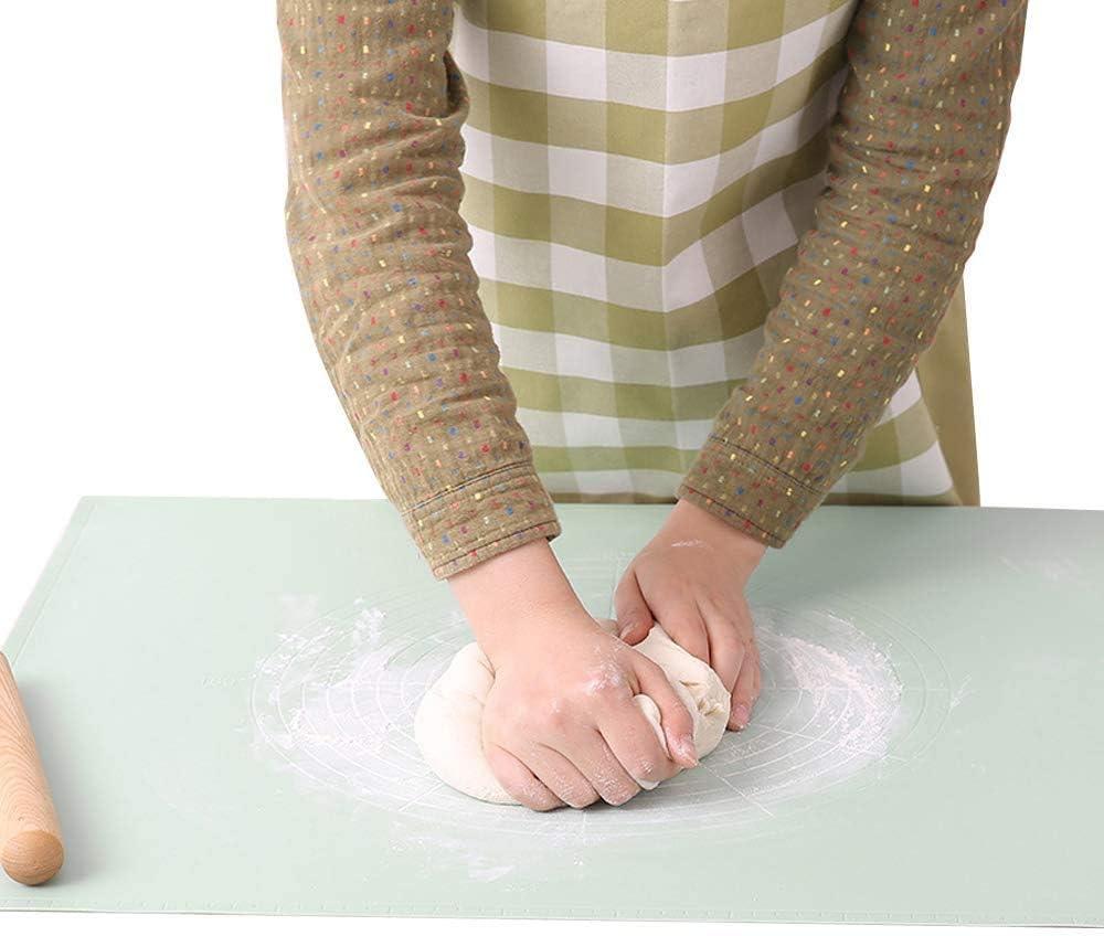 per piano di lavoro QMYS tappetino da forno in silicone antiscivolo per pasticceria per impastare e impastare pasta tappetino per il pane biscotti 20.47*24.41 *0.4 pizza fondente