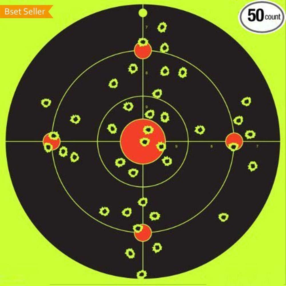 ZHIHEHE Objetivos Splatterburst -8inch Stick & Salpicadura de Reactivo Auto Adhesivo de Disparo Objetivos - Gun - Rifle - Pistola - Airsoft - BB Gun - Pistola de balines - Rifle de Aire