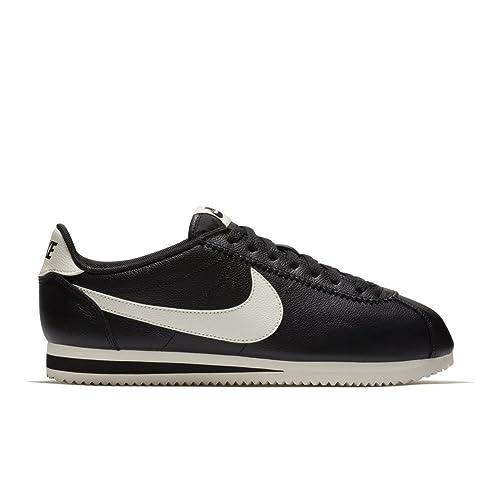 Zapatillas Nike - Classic Cortez Leather Se Negro/Beige Talla: 47,5: Amazon.es: Zapatos y complementos