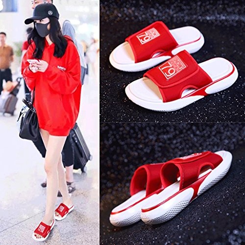 Shoes 0 Ladies slip Slippers Non Summer 5 Casual Fashion Size Sports Durable Beach qYwW7A