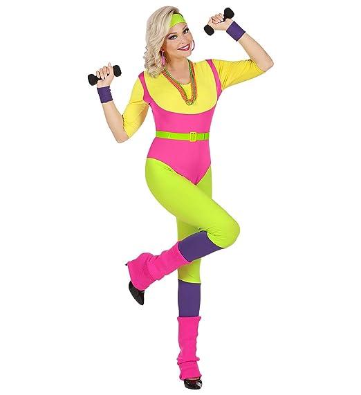 WIDMANN Disfraz de Monitora de Aeróbic para Mujer XS: Amazon ...