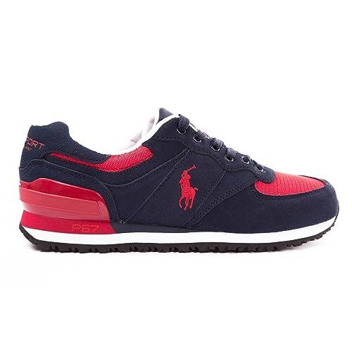 Polo Ralph Lauren - Zapatillas de Deporte para Hombre, (Bleu, US 8: Amazon.es: Zapatos y complementos
