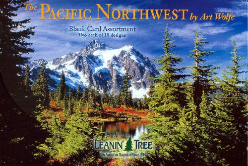 The Pacific Northwest by Art Wolfe (AST90658) - Blank Card Assortment by Leanin' Tree - 20 cards with full-color interiors and 22 designed envelopes ()