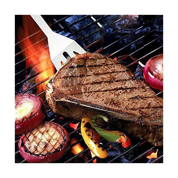 Museourstyty, set di utensili per barbecue, utensili da barbecue, pinze rinforzate, accessori per barbecue, utensili in… 3 spesavip