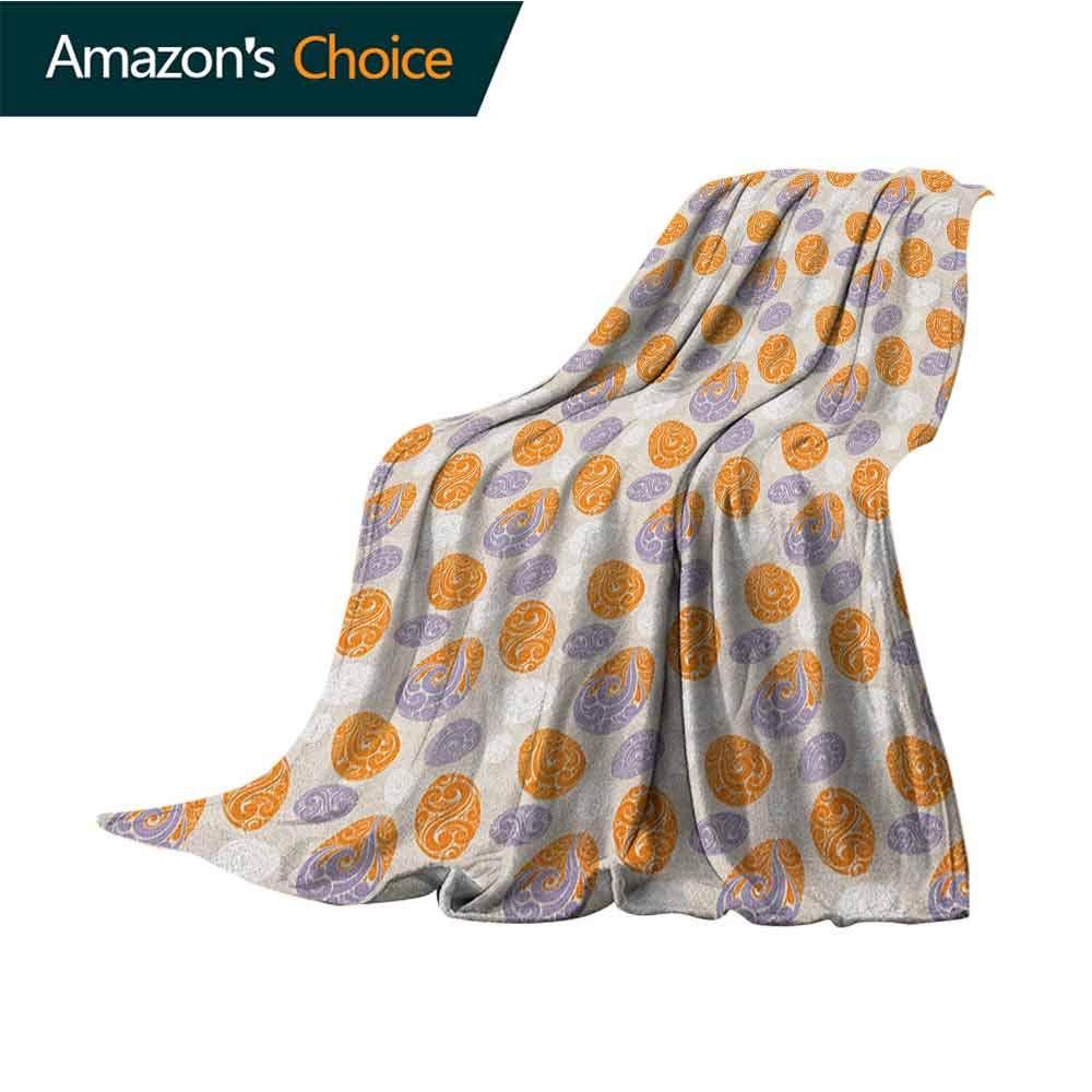 Abstract Wearable Blanket,Swirled Design Geometrical Motifs Ornate Spring Themed Illustration Print Super Soft Light Weight Cozy Warm Plush Hypoallergenic Blanket,50'' Wx70 L Orange Mauve Beige
